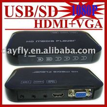 JEDX USB Full HD 1080P HDD Media Player HDMI VGA with SD/MMC Card reader MKV H.264 RM WMV,HD AD Player