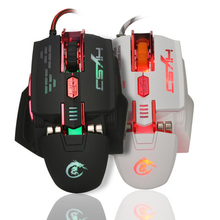 High Quality Game Competitive USB Wired Mouse Macro Definition Gaming Mice 12 DPI Control 4 Color Light Mouse For Computer Gamer