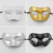 Chic Party PVC Prince Mask Halloween Venetian Mask Party Dance Mask Masquerade Cosplay Decor party Half Men masks A4(China)