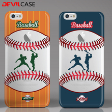 DEVILCASE Baseball Series For iPhone 6 6s Soft Plastic 3D Colorful Painting Craft Unique Design Anti-Slip