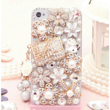 Luxury Jewelled Pearls Diamond Rhinestone Phone font b Cases b font for iPhone for font b