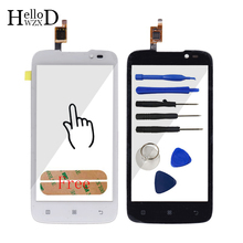 Buy Black White HighGlass Touch Glass Lenovo A516 516 Touch Screen Digitizer Panel Front Outer Glass Lens Sensor + Free Adhesive for $4.98 in AliExpress store