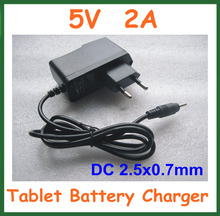 50pcs Universal Charger 5V 2A DC 2.5mm Power Adapter Supply EU for Android Tablet PC Q88 Chuwi V88 Yuandao N70 U35GT2 DHL