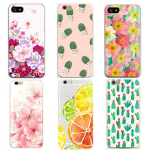Fashion Phone Cases For iPhone 7 6 6 S 5 5S SE Flowers Fruit Plants Painted Landscape Pattern Cover Painting Capa