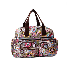 SCYL Women casual fashion print waterproof nylon bag shoulder messenger bag handbags women's size 31 * 22 * 11.5 cm Style 11