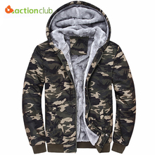 ACTIONCLUB Winter Jacket Men Thick Warm Jacket For Men Plus Size 4XL Jackets Fashion Army Style Camouflage Color Men's Jacket