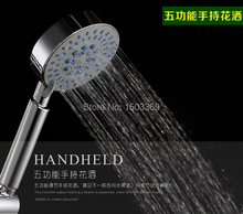 2016 fashion  high quality ABS material five functions shower head hand shower bathroom faucet handheld shower head