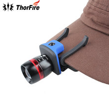ThorFire 3 Modes Zoomable XPE LED Cap Light Headlamp155 lumen Adjustable Cap Hat Head Lamp Light Riding headlamp for AAA