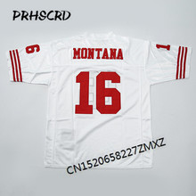 Retro star #16 Joe Montana Embroidered Throwback Football Jersey(China)