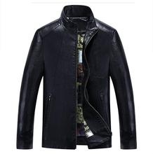 New Fashion Pu Leather Jacket Men Black White Patchwork Mens Winter Leather Jackets Coats Trend Slim Fit Youth Motorcycle Jacket(China)