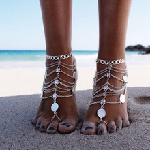 Sexy Women Silver Anklet Chain Ankle Bracelet Hot Foot Jewelry Barefoot Sandal