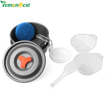 Outdoor Camping Cooking Pots and Pans Set Cookware Mess Kit 9 Piece Backpacking Gear Hiking Cook Set Bowls Spoon With Oxford Bag