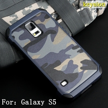 Fashion Camo Phone Case For Samsung Galaxy S5 Hybrid Plastic and TPU Hard Cover Camouflage Style Armor Protector G900F Shell(China)