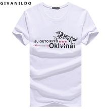 Givanildo 5XL Men T-Shirts Short Sleeve Homme Tops Tees Wolf Brand Plus Size 2017 New Man Tee Shirt BY160