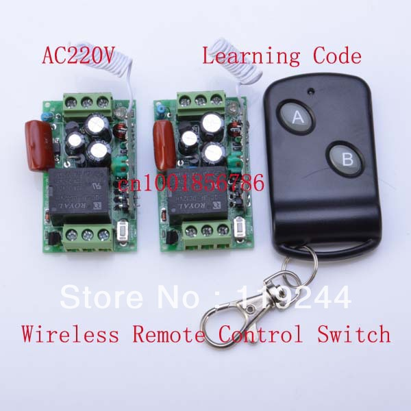 Hot! 315Mhz/433Mhz Learning Code 220V 1CH 10A RF Wireless Remote Control Power Switch System M4/T4 output state is adjusted<br><br>Aliexpress