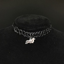 WLP lowest price new silver dog necklaces women new dog pendant necklace for pet lovers' pet jewelry Animal choker necklaces(China)