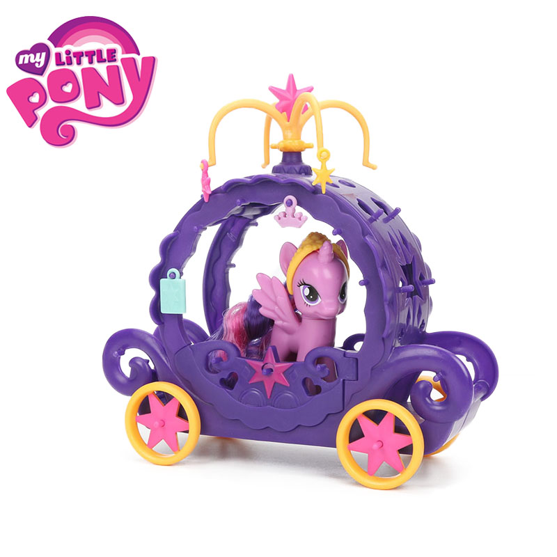 My Little Pony Toy For Girl Friendship Magic Cute Mark Magic Carriage set My Little Pony Dolls set PVC Material Action Figure<br>