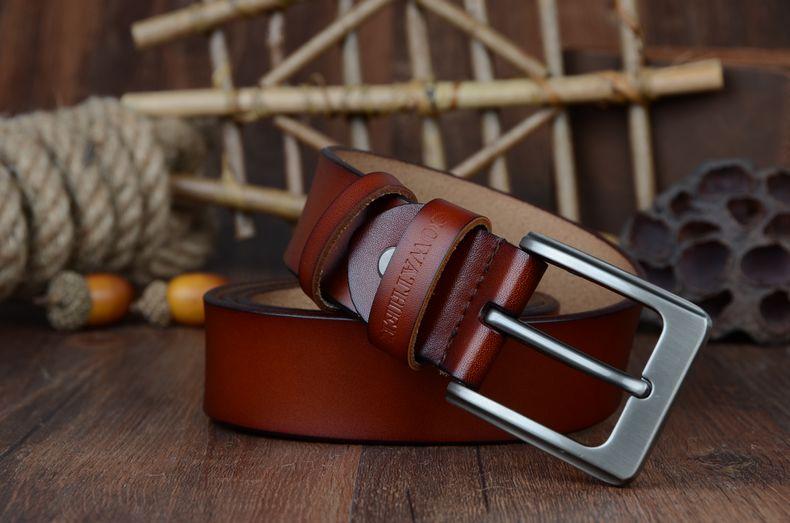 حزام COWATHER جلد طبيعي للرجال 34