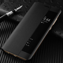 S-GUARD Original Mobile Phone Case For Huawei P10 P10 plus AL00 Cover Flip Case Leather Call Answer Window Protective Shell Skin