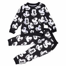 Baby Boys Mickey Clothing Sets Spring Plush Cotton Boy Clothing Set Mickey Set For Boys Heav Shirt Pants 2 Pieces Kids Clothing