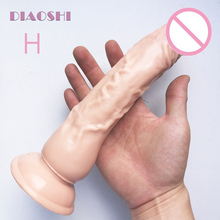 Buy Cheap! DIAOSHI 23.5cm Big Realistic dildo, huge Anal vibrator Dildo, Cock Suction Cup, Adult Dick Sex toys Woman