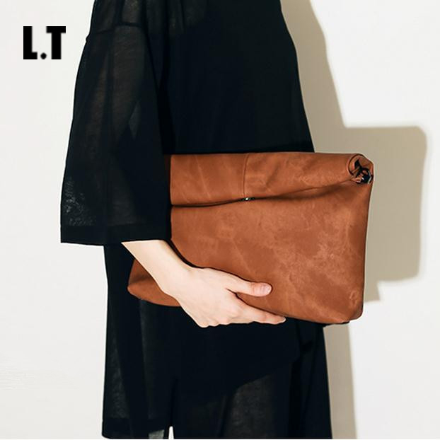 2017 Women Fashion Big Clutches Casual Oversized Huge Soft Street Style Brown Black Red Grey PU Leather Clutch Purse Bags<br><br>Aliexpress