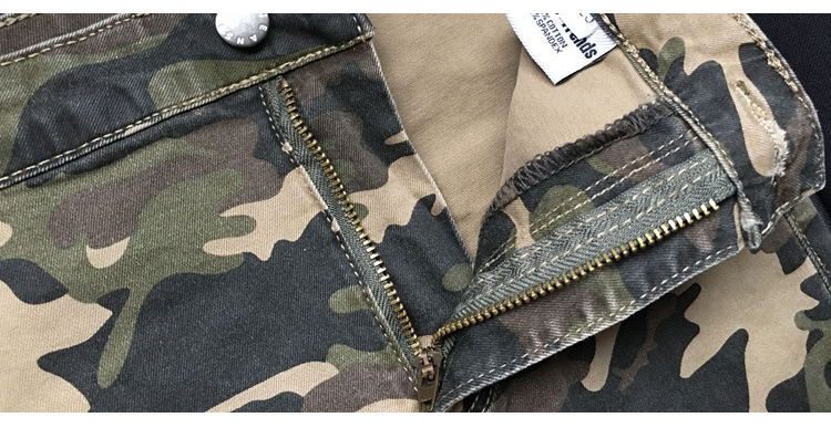2017 New Brand Women Fitness Cloth Camouflage High Waist Elastic Stretch Holes Jeans Pencil Pants Street Style Denim Trousers (18)