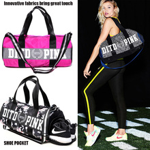 2017 Brand New Women Gym Bag Fitness shoulder gird  strip travel  bags Outdoor yoga bag Separate Space For Shoes sac de sport 29