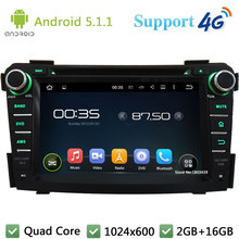 Quad Core 1024*600 Android 5.1.1 Car Multimedia DVD Player Radio Stereo PC BT DAB+ 3G/4G WIFI GPS Map For Hyundai I40 2011-2014