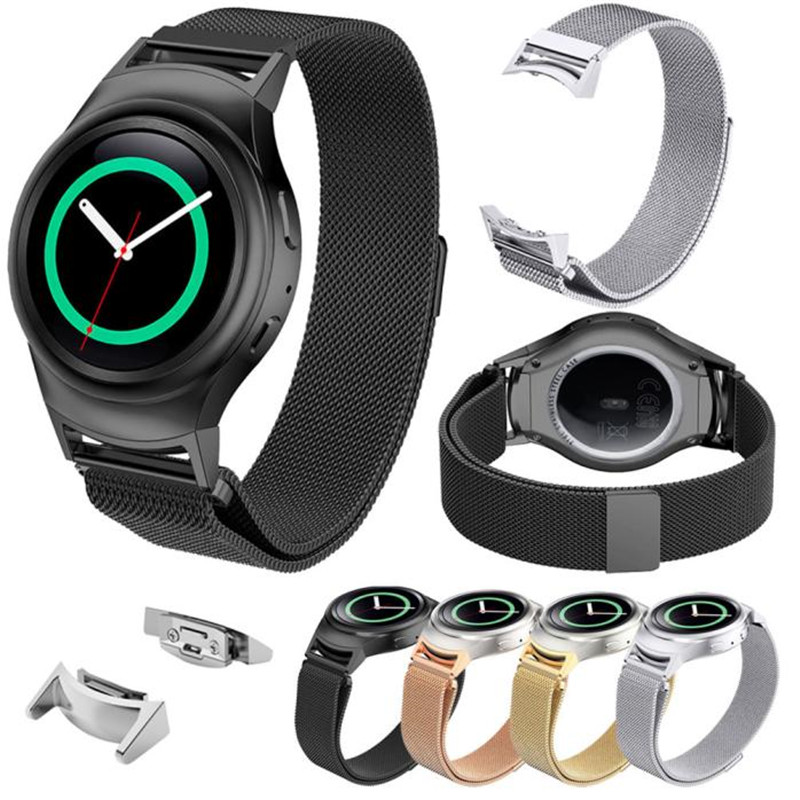 Original Luxury Milanese Loop strap &amp; Link Bracelet Stainless Steel Band Watch Band+Connector For Samsung Galaxy Gear S2 SM-R720<br><br>Aliexpress