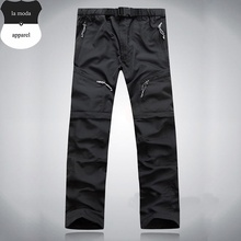 Men's Summer Outdoor Fast Drying Pants Male Anti-UV Sports Travel Trousers Pant's Leg can be Removed(China)