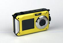 24MP Two Screens Waterproof Digital Camera,2.7 inch +1.8 inch Screens HD 1080P CMOS 16x digital Zoom Camcorder mini  Camera