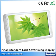 New restaurant publicity products 7 inch Full hd lcd screen USB SD Auto play video LCD Advertising Display