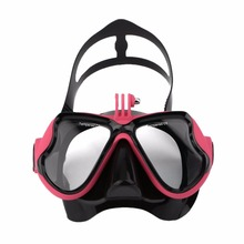 Professional Waterproof Underwater Diving Camera Mask Dive Face Scuba Snorkel Swimming Goggles for GoPro Xiaomi SJCAM Sports(China)