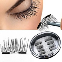 2 Pairs/8 Pcs! Magnetic False Eyelashes Extension Natural Double Magnets False Eyelash Party Fake Lashes Makeup Cilos Posticos