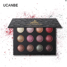 Ucanbe Brand Makeup 12 Color Shimmer Baked Eyeshadow Palette Set Matte Powder Eye Shadow Metallic Long-lasting Smooth Pigments(China)