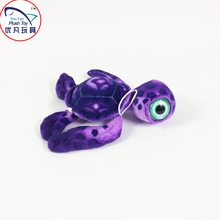2016 fancy toys stuffed sea turtle plush toy purple color 40# turtle with big eyes factory sale(China)