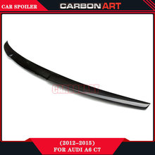 tuning car body kit M4 design carbon fiber trunck spoiler for audi a6 c7 2012 2013 2014 2015