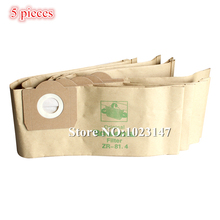 5x Vacuum Cleaner Bags Paper Dust Filter Bag replacement for Karcher WD 3 2251 MV 3 Premium SE 4002 THOMAS BioVac 1620