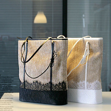 Straw Bag 2015 New Hot Summer Fashion Beach Bags Woven Light Material Women Bag Free Shipping A1137~1