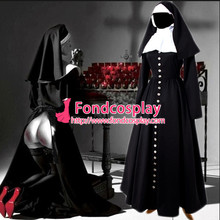 Free Shipping Gothic Sissy Maid Nun Dress Outfit Cosplay Costume Tailor-made(China)
