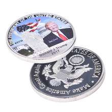 Creative American 45th President Donald Trump Silver Coin White House Coin Collection Gags toy Practical Jokes(China)