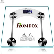 Homdox 150kg Square Digital LCD Glass Body Weight Home Bathroom Scale High Precision N20*