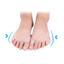 2Pcs Silicone Toe Separators Straightener Hallux Valgus Bunion Corrector Relief Foot Care Massage Pain Relief Foot Care Tools