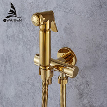 Bidet Faucets Wall Brass Cold Water Toilet Corner Valve Handheld Hygienic Shower Head Wash Car Pet Sprayer Airbrush Tap 1001(China)