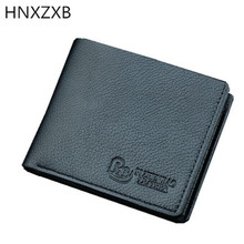 HNXZXB Leather Men Wallet Carbon Pattern Luxury Leather Wallets Office Male Wallet Mature Man Bifold Wallet 2017(China)