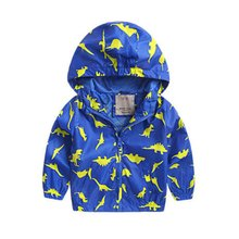 Spring Autumn Outerwear Boys Girls Coat Children Hooded Jackets Outwear Kids Clothes Jacket Kids Windbreaker LL2 X5