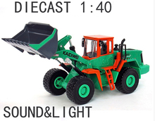 New new kaidiwei 1:40 digger acousto-optic alloy die cast engineering model car large forklift excavator large forklifts(China)