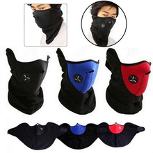 Outdoor Thermal Fleece Half Face Mask Cycling bike Mask Windproof  Headwear Motorcycle Face Mask Winter Sports Ski Snowboard