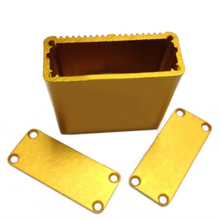 1pc Gold Electrical Project Instrument Case Aluminum Enclosure Box 45x45x18.5mm with Screws